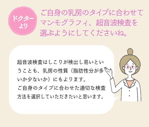 ご自身の乳房のタイプに合わせて選択